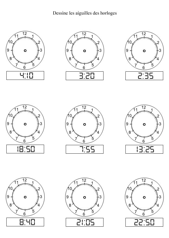 apprendre lire l 39 heure dessiner les aiguilles sur les horloges les minutes turbulus jeux. Black Bedroom Furniture Sets. Home Design Ideas