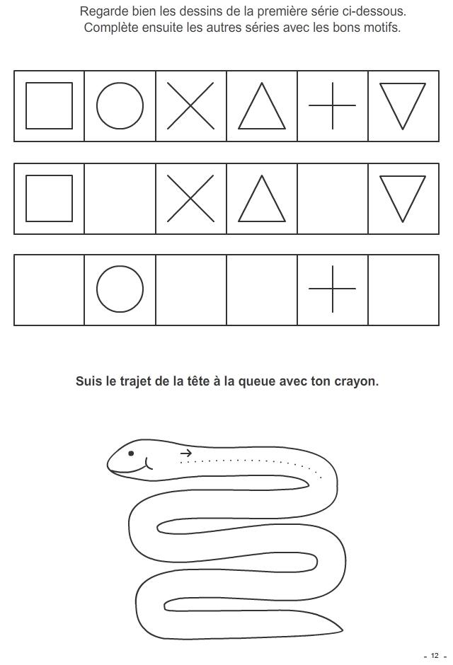 jeu imprimer reproduire les motifs tracer le chemin turbulus jeux pour enfants. Black Bedroom Furniture Sets. Home Design Ideas