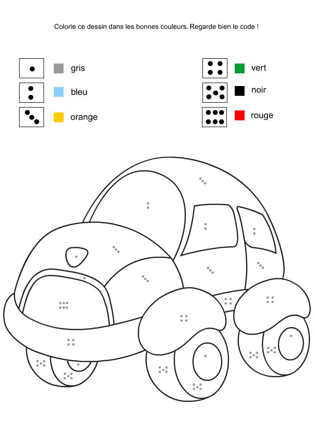 Coloriage A Imprimer Garcon 4 Ans.Activite D Eveil A Imprimer Coloriage Code Turbulus