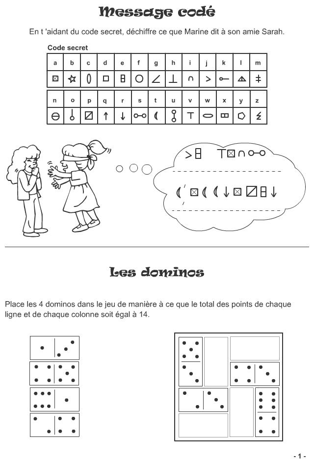 Jeux imprimer pour enfants de 7 ans et plus page 1 for Rehausseur 3 ans et plus