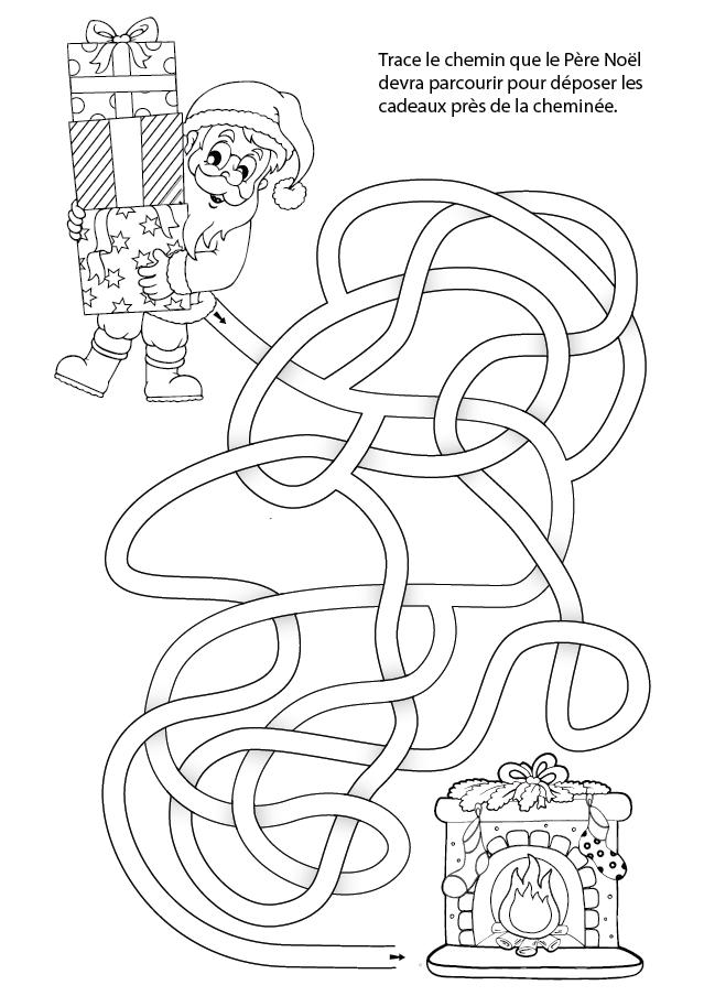 labyrinthe de no l imprimer turbulus jeux pour enfants. Black Bedroom Furniture Sets. Home Design Ideas